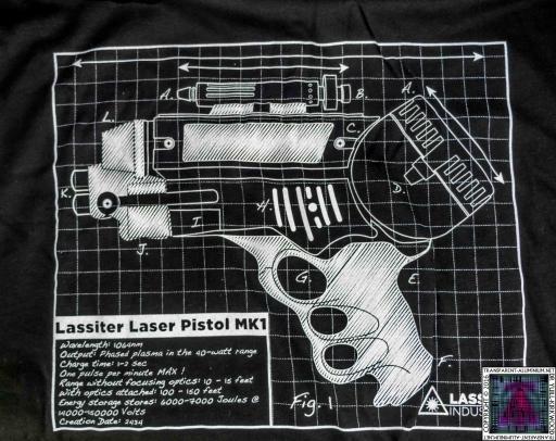 Lassiter Laser Pistol MK1 T-Shirt