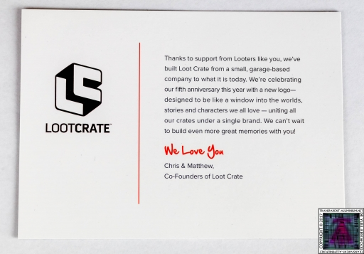Loot Crate Postcard
