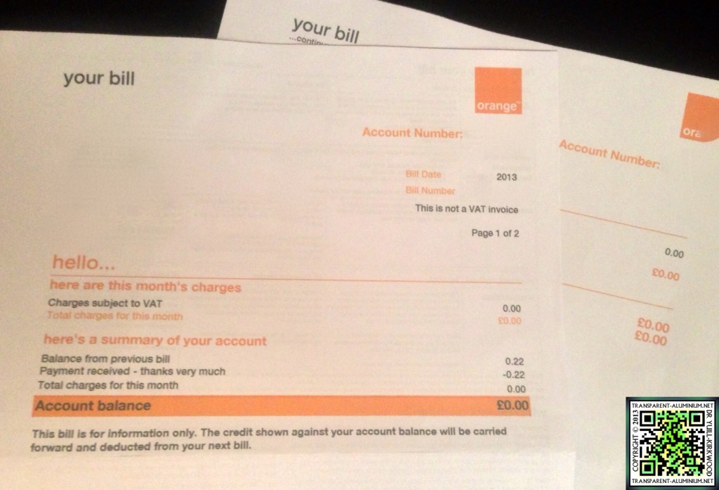 My Orange Bill