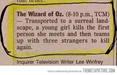 The Wizard Of Oz TV Guide