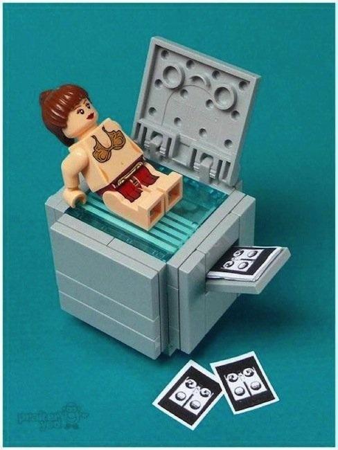 Naughty Lego Princess Leia