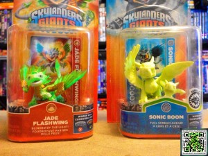 Skylanders Jade Flashwing and Glow in the dark Sonic Boom