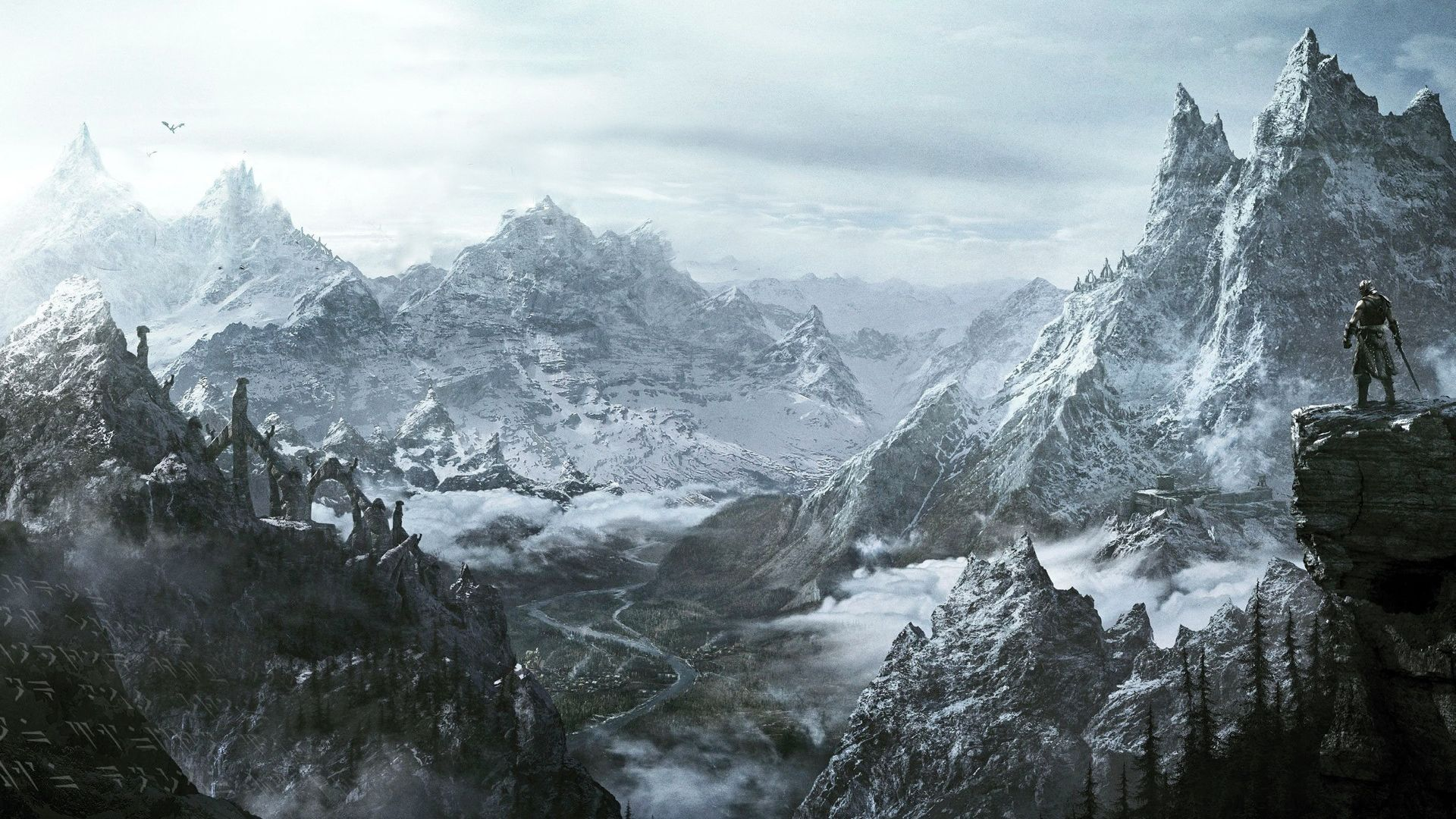 Skyrim-Mountains