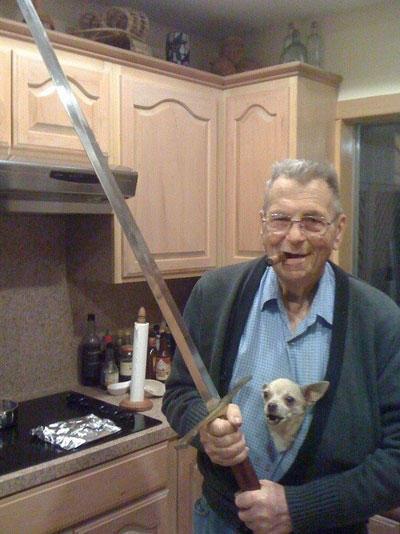 funny-wtf-dog-sword-grandpa