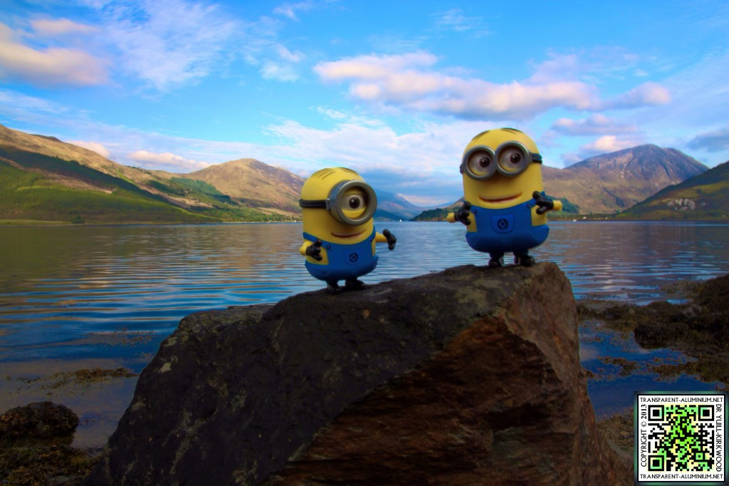 Dave and Steve at Loch Leven.
