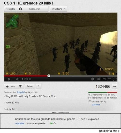 funny youtube comments chuck norris