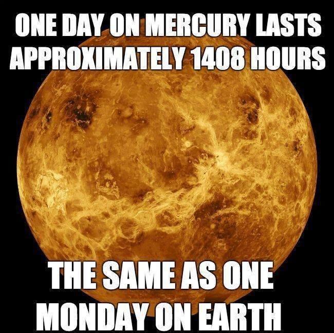 One Day On Mercury