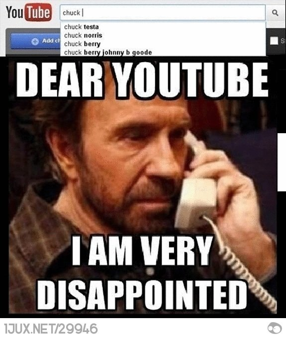 Chuck Norris Disappointed