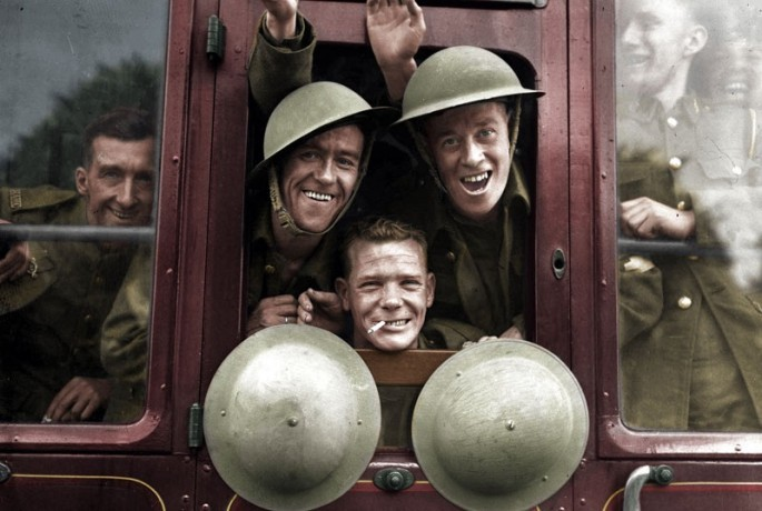 British Soldiers Returning from the front in 1939