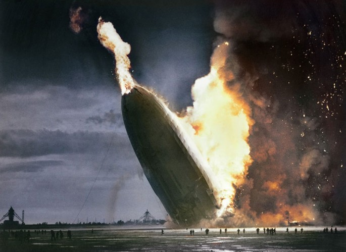 Hindenburg Blimp Crash 1937