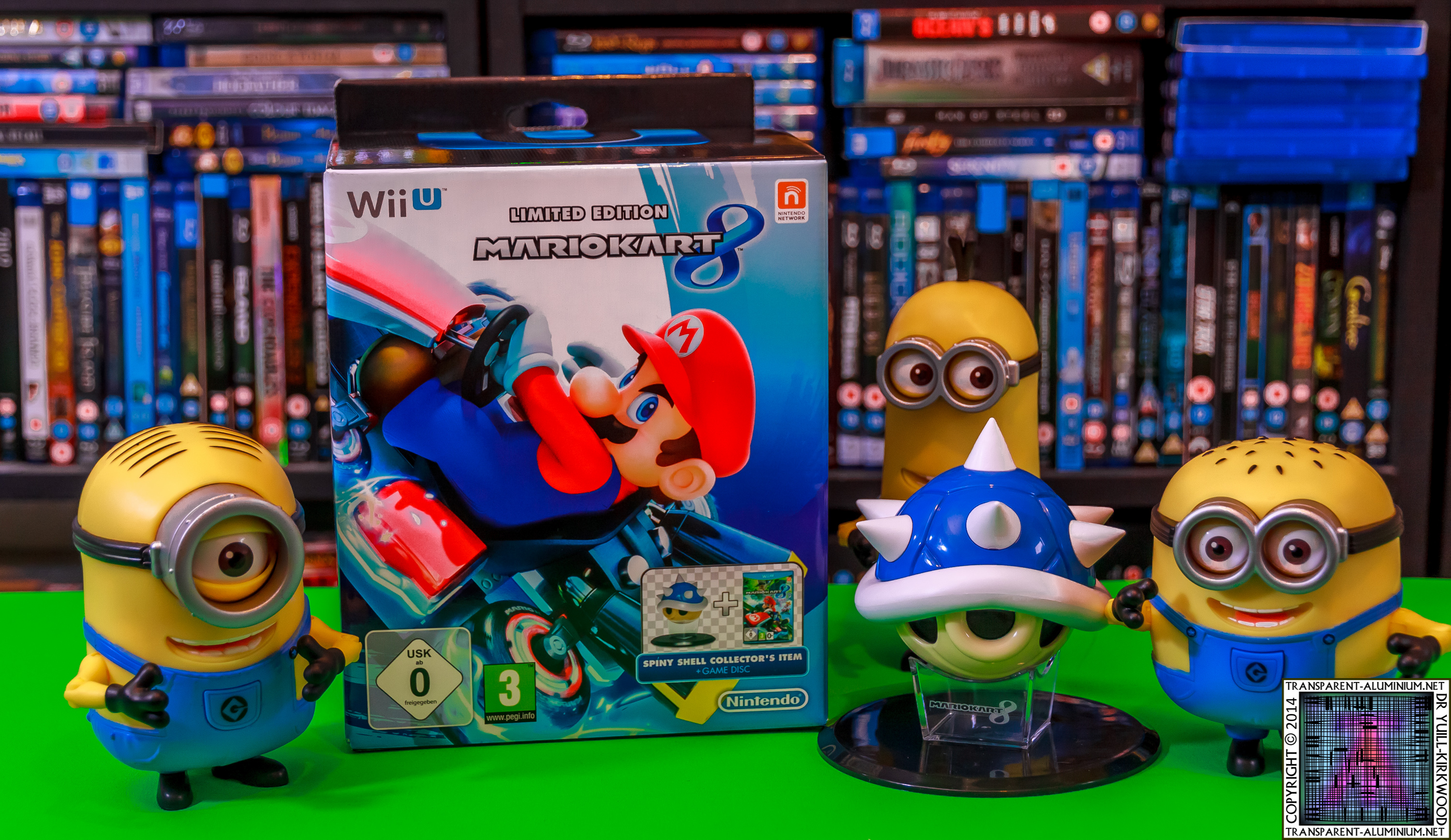 mario kart 8 limited edition with blue shell figurine. Black Bedroom Furniture Sets. Home Design Ideas