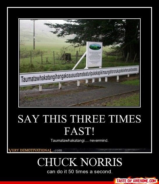 Say this three times fast Chuck Norris can do it 50 times a second.