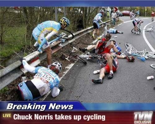 Chuck Norris Takes Up Cycling