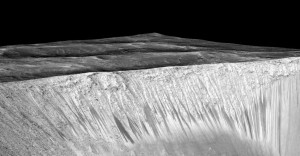 Mars Lineae Slopes Garni Crater Perspective PIA19917