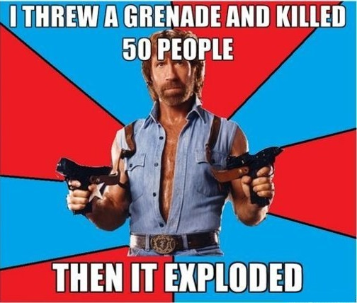 Chuck Norris threw a