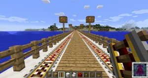 The Train lines to the Mainland from the Ocean City are laid Minecraft‬ I will connect them to the network later.