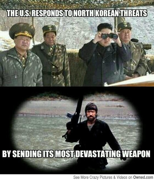 The US Responds to North Korean Threats by sending its most devastating weapon