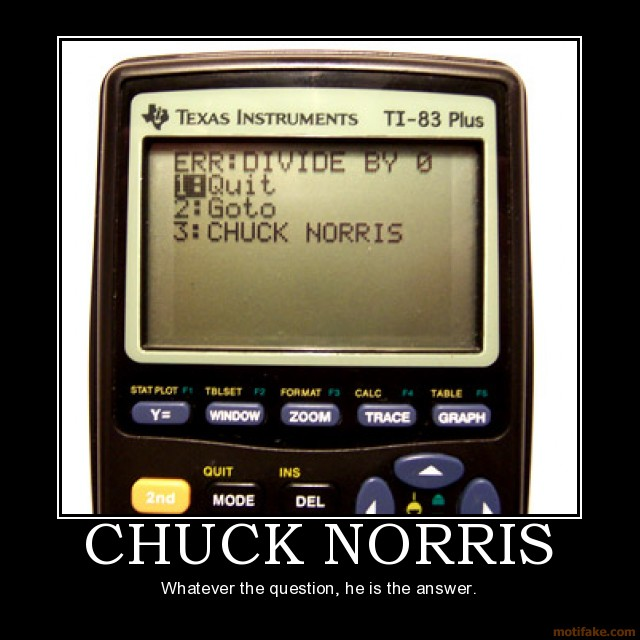 Whatever the question, Chuck Norris is the answer