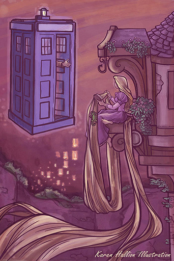 Doctor Who Tangled with Rapunzel