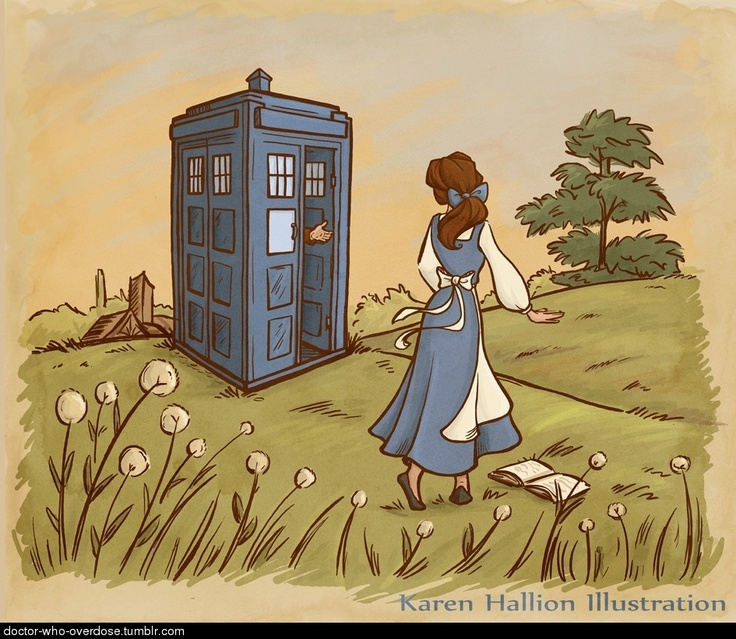 Doctor Who and Belle of Beauty and the Beast