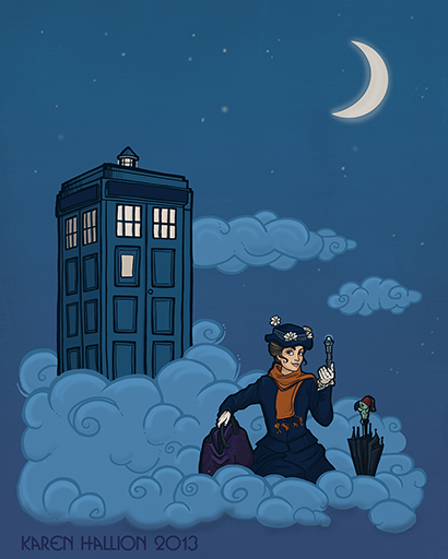 Doctor Who and Mary Poppins