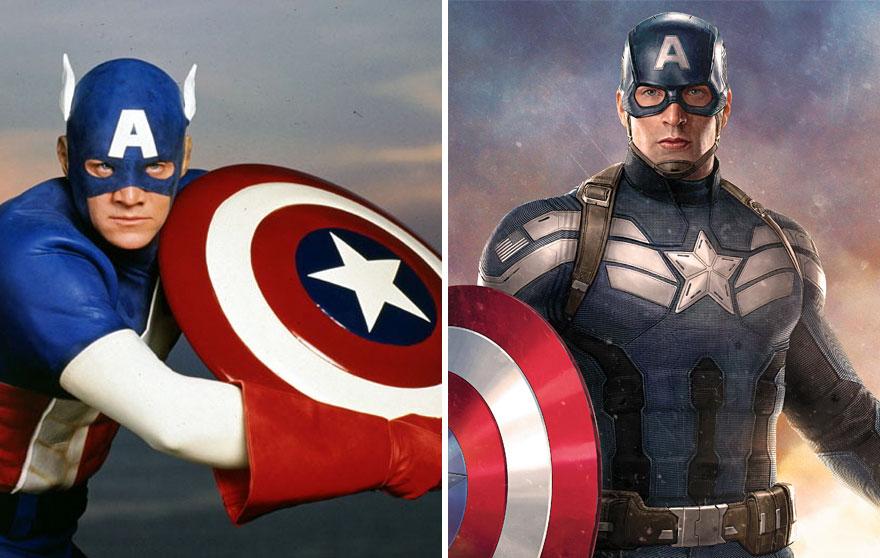 Captain America 1990 vs 2016