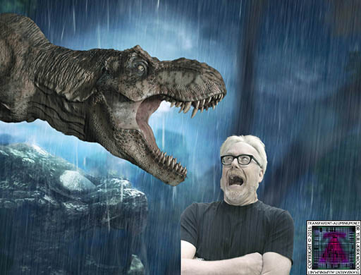 Adam Savage Vs Tyrannosaurus