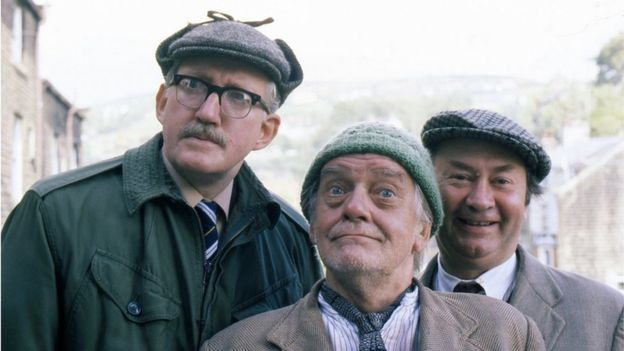 Bill Owen (centre) and Brian Wilde also starred in Last of the Summer Wine