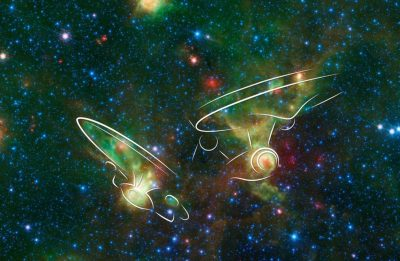 NASA's Spitzer Space Telescope See 'Star Trek' Pareidolia