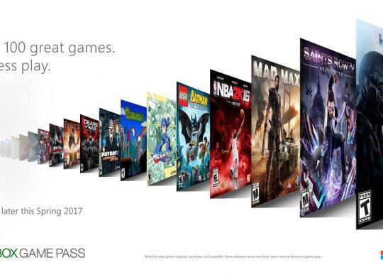 XBOX Announces XBOX Game Pass
