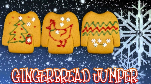 Christmas Gingerbread Jumper - Lets Build thumb