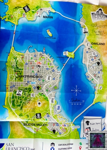 Watch Dogs 2 San Francisco Map