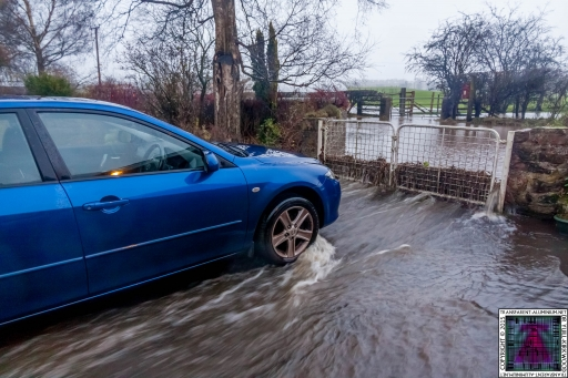 Gates Working Like a Dam - Cumbria Flooding December 2015 (2)