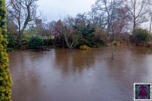 Submerged Garden - Cumbria Flooding December 2015 (1)