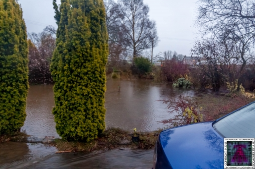 Submerged Garden - Cumbria Flooding December 2015 (3)