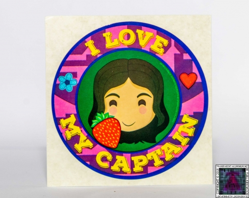 I Love My Captain Sticker