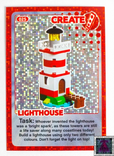 Lighthouse LEGO Create The World Cards