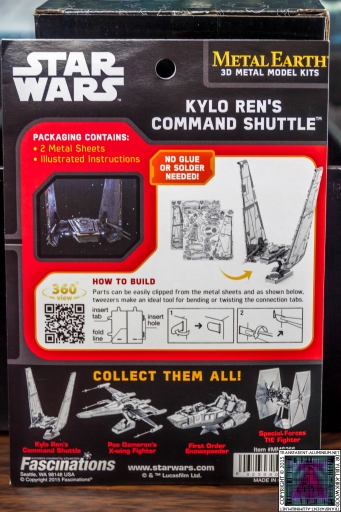 Kylo Ren Command Shuttle 3D Metal Model Kit (1)