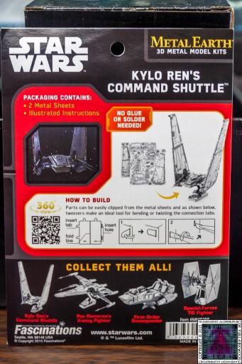 Kylo Ren Command Shuttle 3D Metal Model Kit (1)