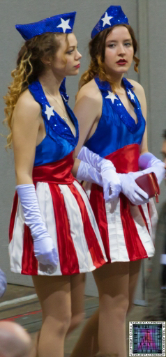 Captain America USO Dancer at Newcastle Film and Comic Con 2014