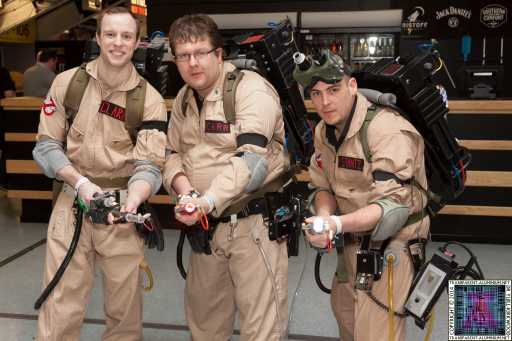 The Ghostbusters at Newcastle Film and Comic Con 2014