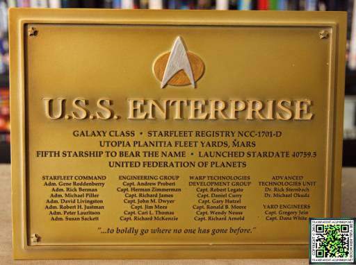 Enterprise D Dedication Plaque