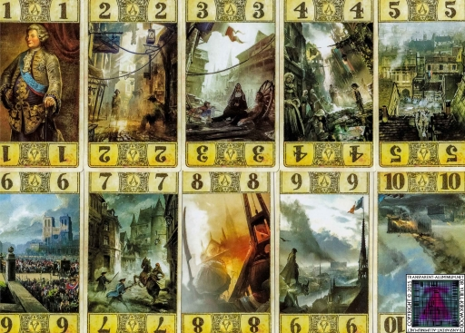 Assassins Creed Unity Guillotine Edition French Tarot Cards