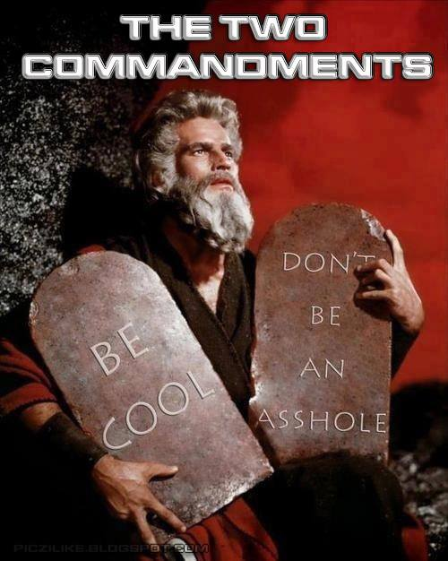 The Only Two Commandments that count.