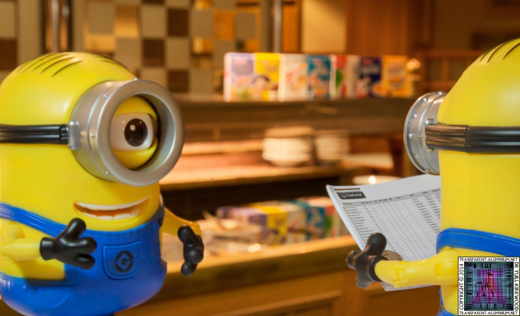 The Minions working breakfast time at the Silverlink Hotel.