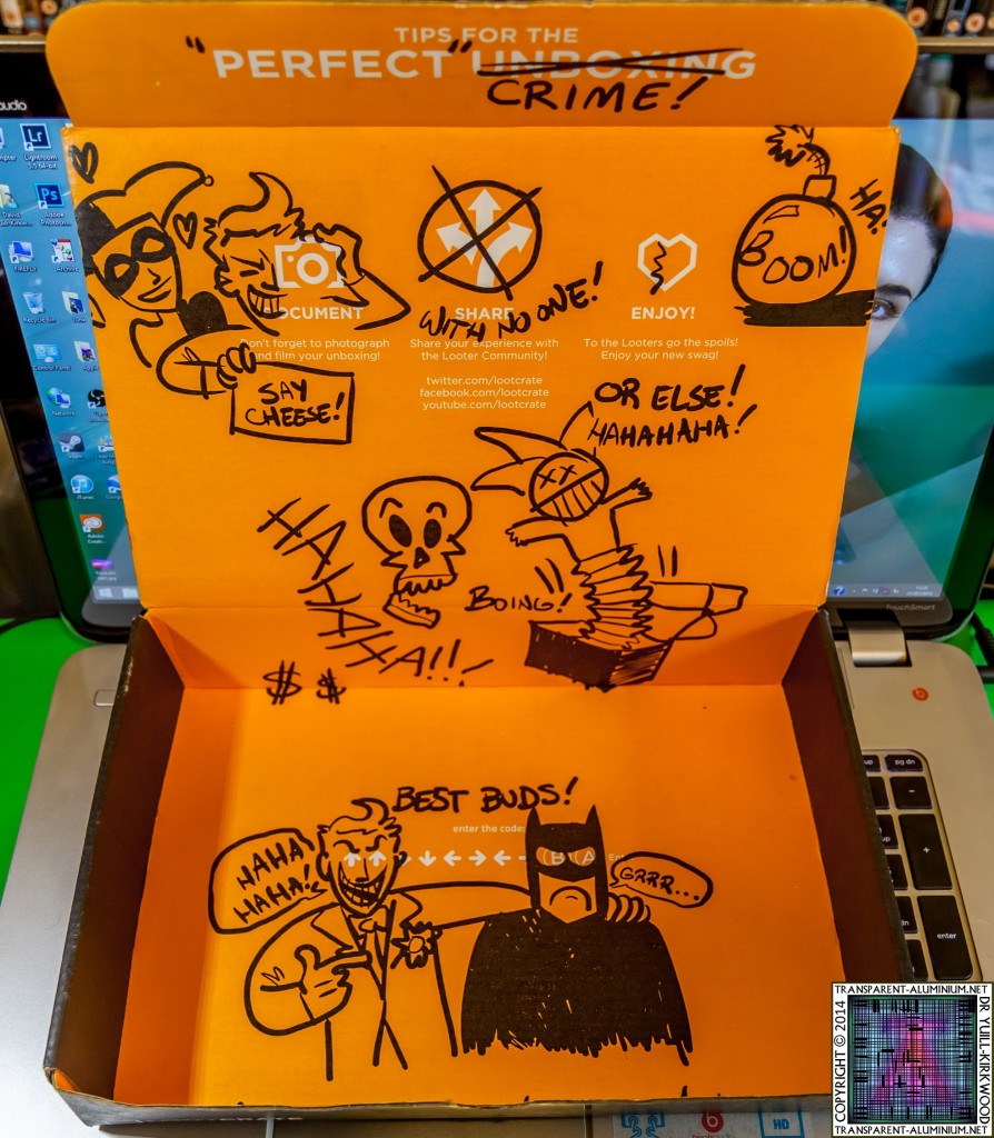 Loot Crate July 2014 Villain Graffiti Box