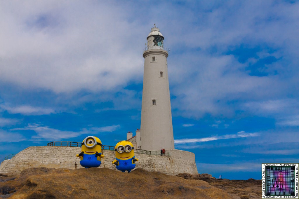 The Minions at St Mary's lighthouse.