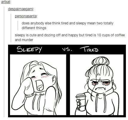 Sleepy Vs Tired