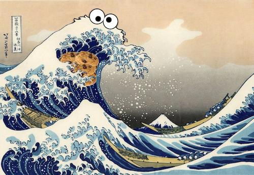 Cookie Monster Spotted Art