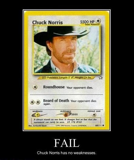 FAIL Chuck Norris Has No Weakness